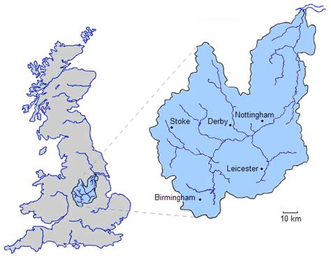 river thames drainage basin map why was different roman provinces given the names