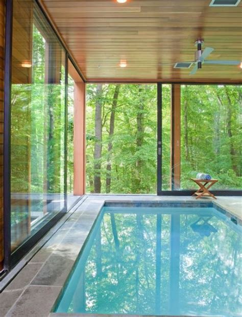 stunning house with pool and view beautiful indoor pool with forest views