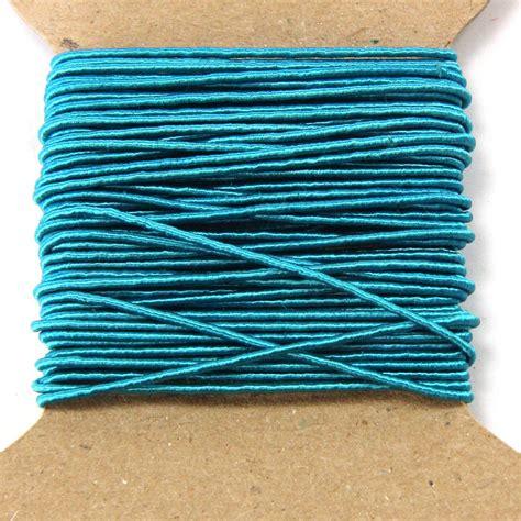 beading cord turquoise silken beading cord