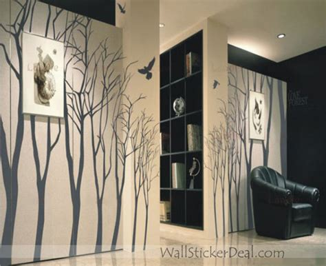home decor love love forest winter tree wall stickers home decorating