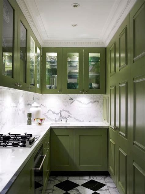 painted green kitchen cabinets cabinet paint colors 7 colorful choices for the kitchen