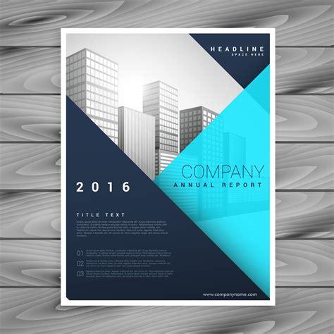 Modern Flyer Template Modern Minimal Brochure Flyer Template In Blue Geometric Style Download Free Vector Art Stock