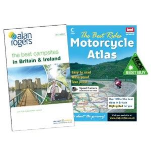 0008183724 collins road atlas ireland touring the best rides uk and the best csites gb and ireland