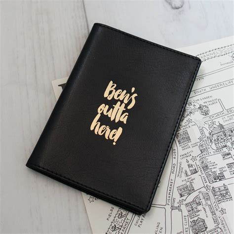 8 Passport Covers by Personalised Passport Cover By Pickle Pie Gifts