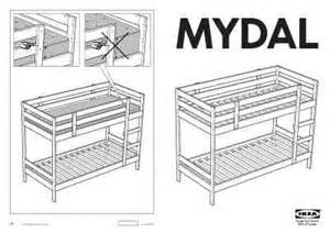 Ikea mydal bunk bed frame twin furniture download user guide for free