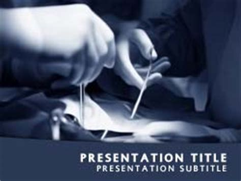 Templates Powerpoint Surgery | royalty free surgery powerpoint template in blue
