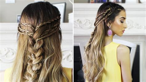 hairstyles to do for bohemian hairstyles for black hair half up half down boho hairstyle youtube