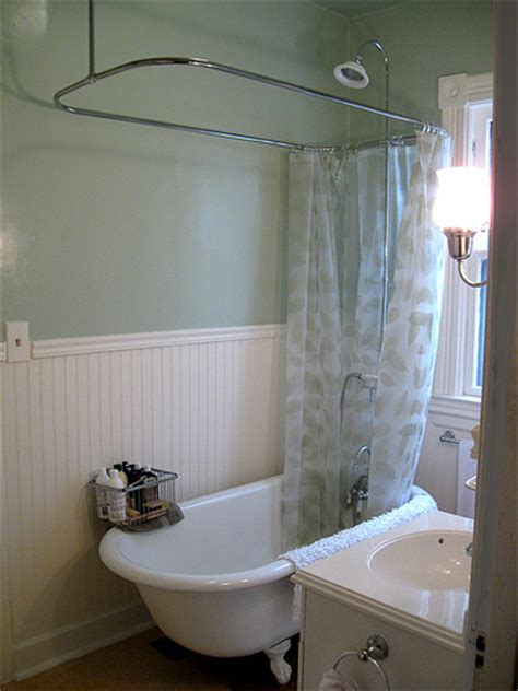 refinished clawfoot tub with shower kit flickr photo