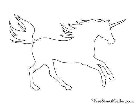 Unicorn Outline by Unicorn Silhouette 01 Stencil Free Stencil Gallery