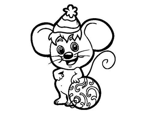 dibujos de navidad para colorear dibujosnet dibujo de rat 243 n con gorro de navidad para colorear