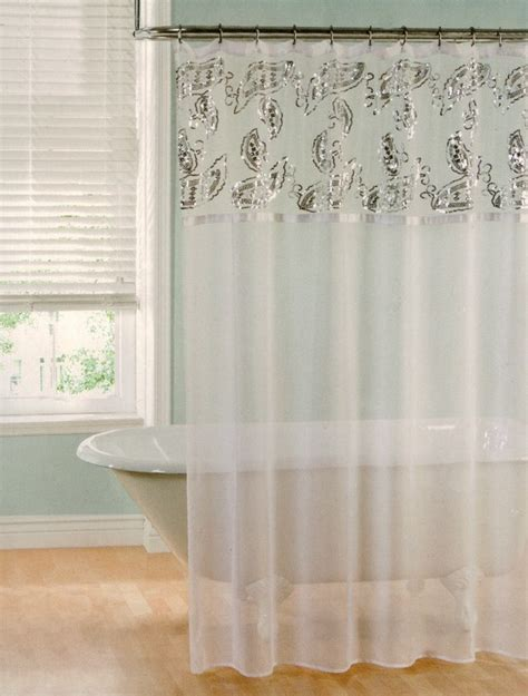 Sheer Bathroom Curtains » Home Design 2017