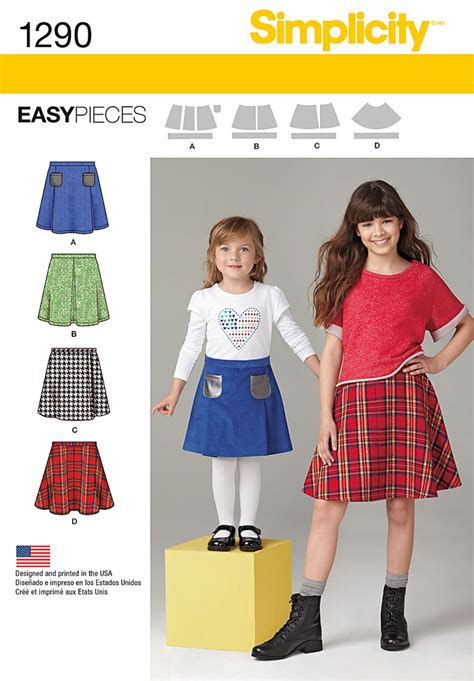 pattern review simplicity simplicity 1290 child s and girls set of skirts