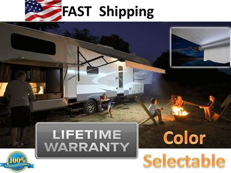 rv awning complete rv awning lights led complete kit tent stove tag