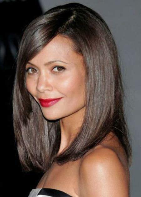 side angle bang hairstyles 20 medium length haircuts with bangs