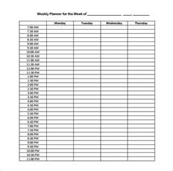 Weekly Schedule Template Pdf by Hourly Schedule Template 10 Free Sle Exle Format