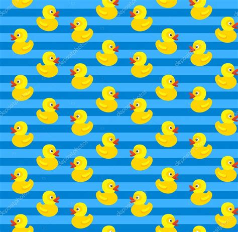 rubber st pattern seamless pattern with yellow rubber duck on blue