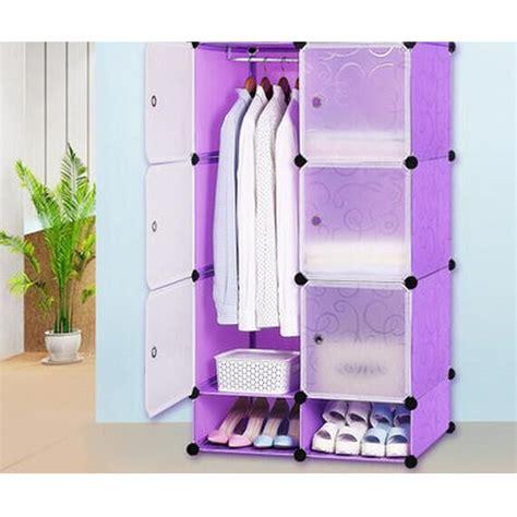 Lemari Cabinet Plastik lemari baju plastik diy 6 pintu purple jakartanotebook