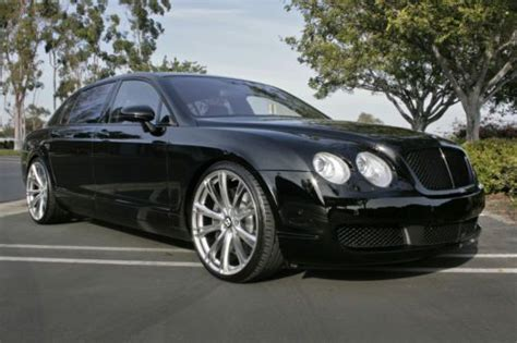 bentley blacked out find used 2006 bentley flying spur sedan custom wheels