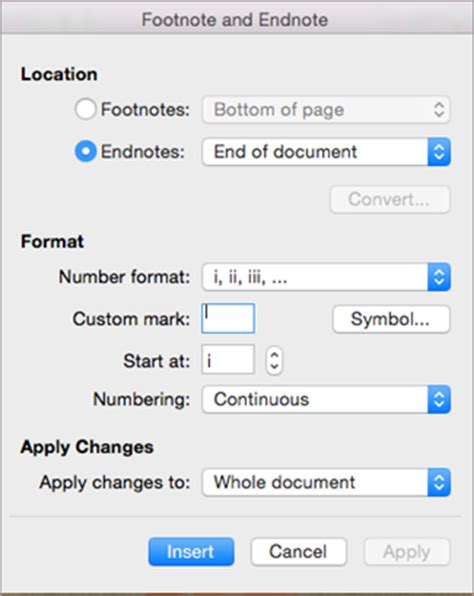 format a footnote in word add footnotes and endnotes in word 2016 for mac word for mac