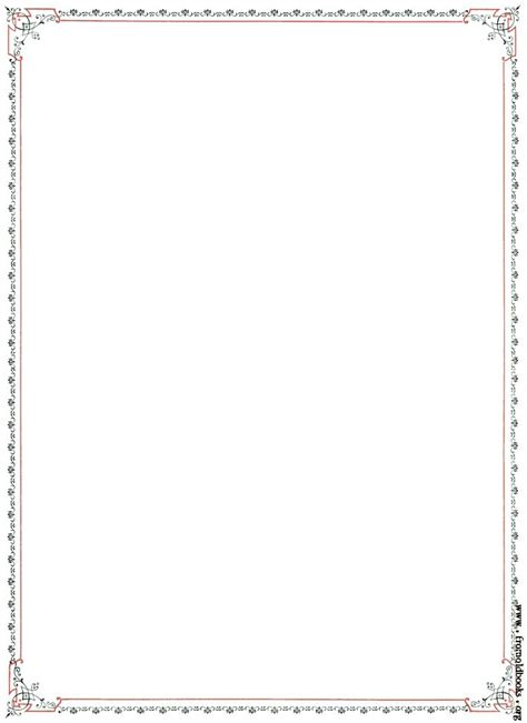 border templates for pages free free borders coloring pages