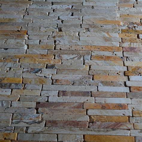 brick pattern mosaic tile natural stone scabos travertine random brick pattern