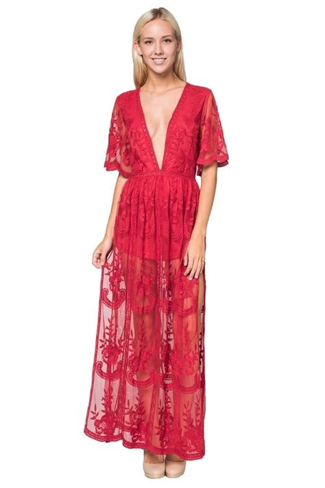 Embroidered Maxi Dress lace embroidered maxi dress hnyid5009c 66 00
