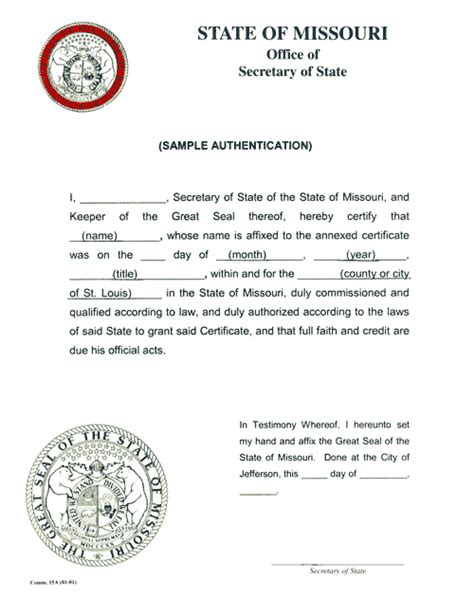 letter of certification for records certification authentication apostilles