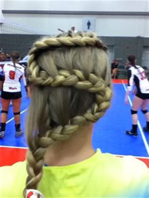 quick and easy volleyball hairstyles 1000 images about volleyball hairstyles on pinterest