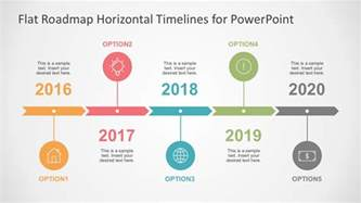 Timeline Template Powerpoint Free by Flat Timelines Powerpoint Templates