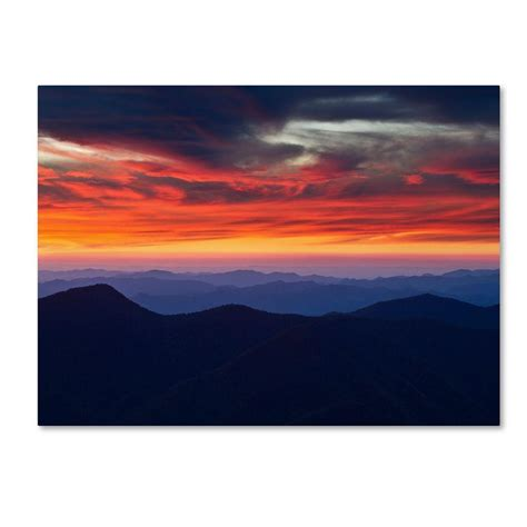 14 in x 24 in mount mitchell sunset canvas pl0055