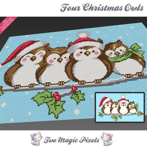 pattern magic 3 pdf free download four christmas owls c2c graph crochet twomagicpixels
