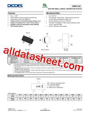 diodes inc b160 13 f mmbta92 13 f 데이터시트 pdf diodes incorporated