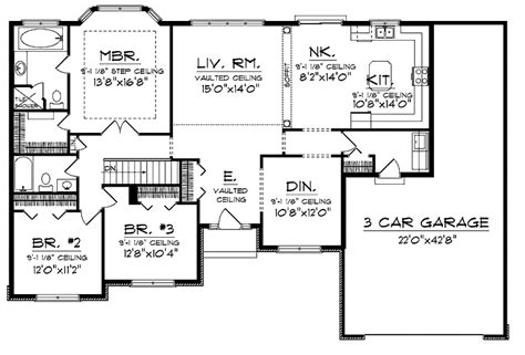unique ranch style home floor plans 1 5 story home styles home plans ranch newsonair org