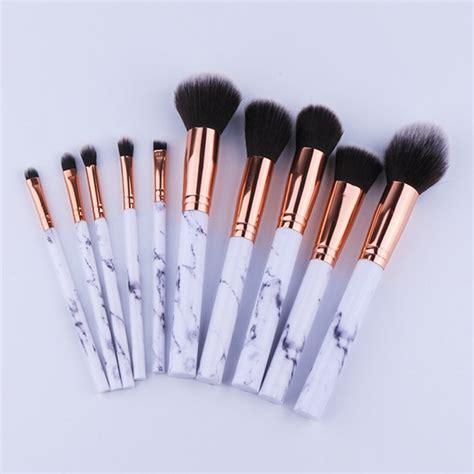 makeup brushes 10pcs set professional makeup brushes marbling handle eye