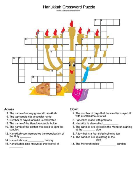 printable hanukkah quiz hanukkah crossword puzzle http www kidscanhavefun com