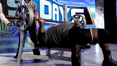 big show bench press smackdown results the rock rolled over people power a