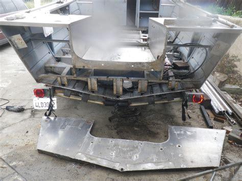 flat bottom boat transom repair marine aluminum jb fabrication and welding