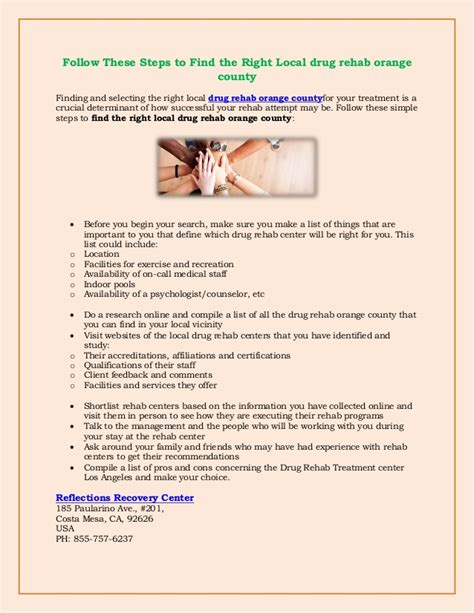 Headstart Detox Orange County by Follow These Steps To Find The Right Local Rehab