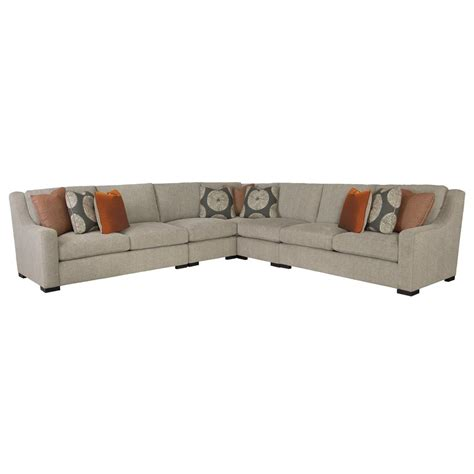 Denis Modern Classic Tweed Grey Sectional Sofa Kathy Kuo Tweed Sectional Sofa