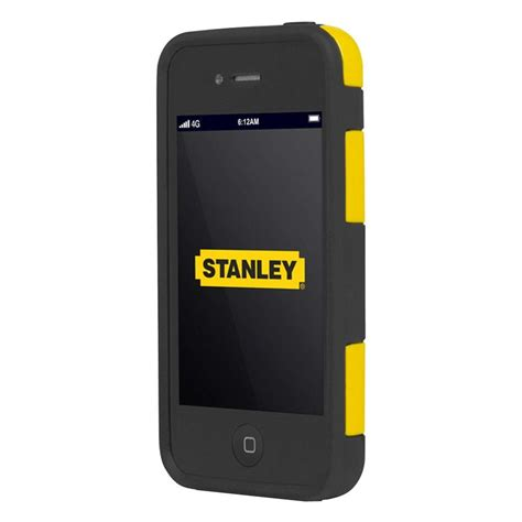 iphone 4 rugged stanley technician iphone 4 and 4s rugged 2 smart phone black and yellow stly003
