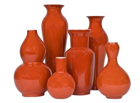 orange home decor accessories jayson home garden accessories vases persimmon