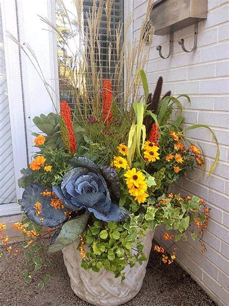 Fall Flower Garden Ideas 25 Best Fall Flower Pots Ideas On