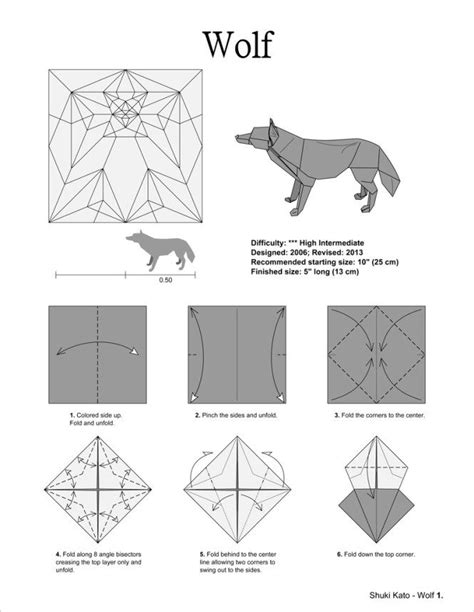 Origami Wolf Diagram - best 25 origami ideas on origami