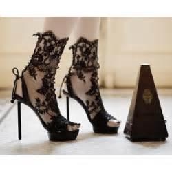 Luxury Wedding Dresses Beautiful Black Fashion High Heels Lace Lace Shoes Im Polyvore