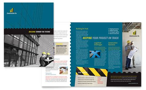 construction flyer templates free industrial commercial construction brochure template design