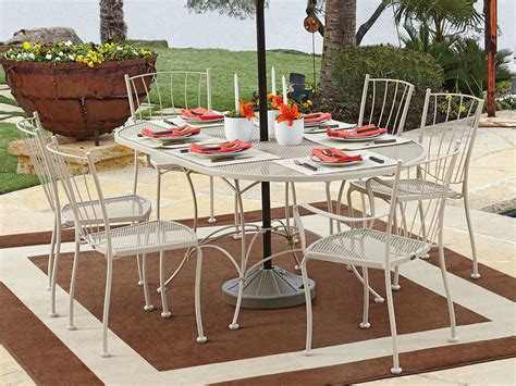 Set By Zm Collection woodard wrought iron dining set auroradinset