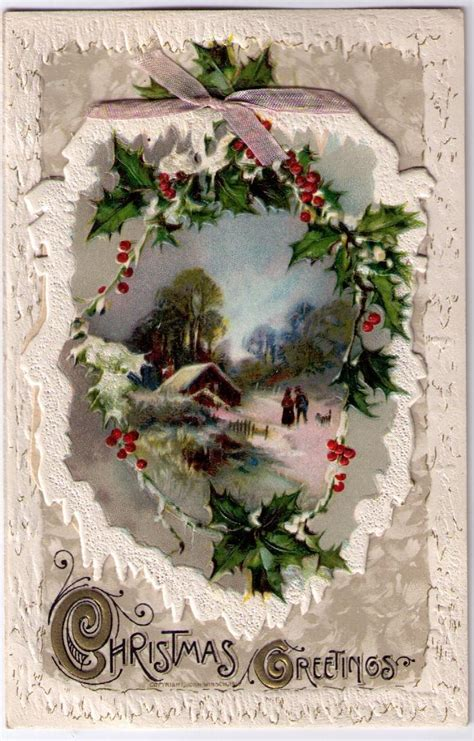 images of vintage christmas scenes playle s vintage christmas postcard lovely winter scene