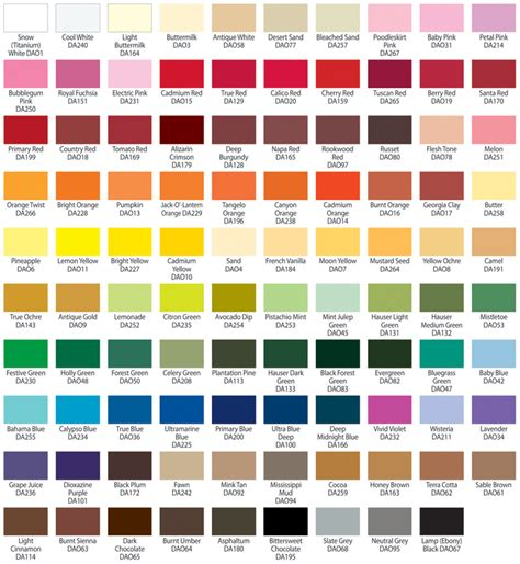 paint colors acrylic americana acrylic paint color chart jpg color mixing