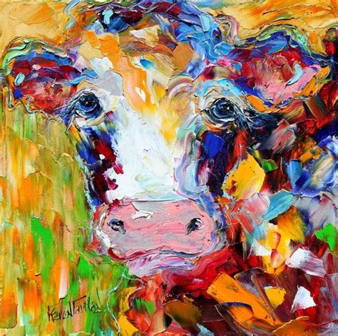 colorful cow painting colorful cow paintings