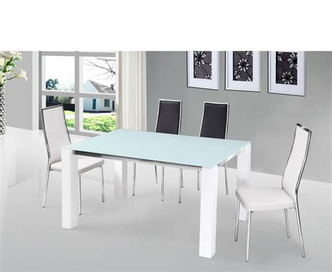 Frosted Glass Dining Tables Fenner White High Gloss Dining Table And Chairs With Clear Glass Top Uk Delivery